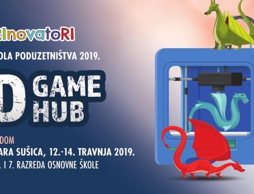 VIKEND ŠKOLA PODUZETNIŠTVA 2019 – 3D GAME HUB